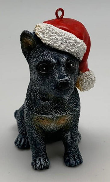 Blue Heeler Christmas decoration. Made from resin - 75mm x 50mm x 95 mm