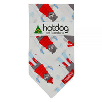 Hot Dog Bandana - Xmas Frosty Snow