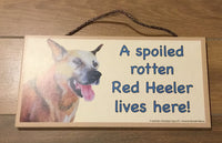 Plaque - A spoiled rotten Red Heeler lives here!