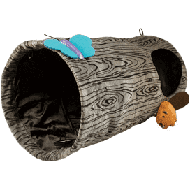 KONG Burrow - Playspaces - play pence and play or hide away, peek a boo window for hide and seek excitement and hunt and find crinkle attachments fulfill natural instincts