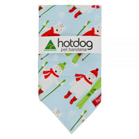 Hot Dog Bandana - Xmas Frosty Friends