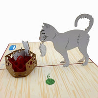 Cat Mummy - Beautifully created Pop Up cards created to to make any gift memorable. Each card is designed and meticulously handcrafted into 3d pop up cards for all occasions.