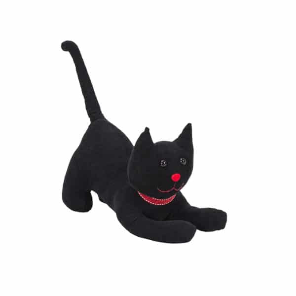 Beautiful doorstops of cats.  Colour available in black