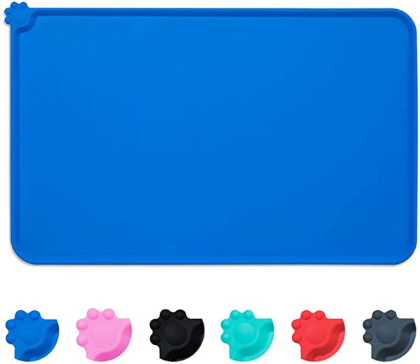 Silicone waterproof pet mat Blue