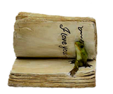 Frog with books