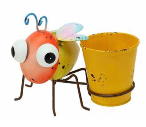 Bertie the Bug - Fun and happy Bertie the Bug Planter. Bertie will bring a smile to your face whilst also supporting your favourite pot plant.  Dimensions: 17cm L x 11cm W x 18cm H