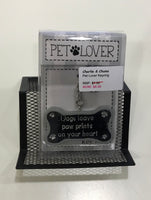 Pet lovers Keyring - Dogs leave paw prints on your heart