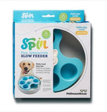 SPIN interactive  Adjustable slow Feeder bowl for Cats and Dogs - Boxed item