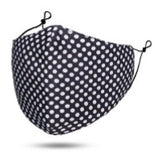 Maskit Reusable Black & White Polkadot Cotton Mask with 3 PM2.5 filters included in pack