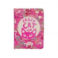 Crazy Cat Lady Small pocket notebook 11 x 15cm. 66 Lined pages with metallic stamp on cover.