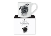 Beautiful Delight dog range by Ashdene in monochrome colours. 12 delightful dogs available. Pug