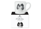Beautiful Delight dog range by Ashdene in monochrome colours. 12 delightful dogs available. Cavalier King Charles Spaniel
