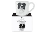 Beautiful Delight dog range by Ashdene in monochrome colours. 12 delightful dogs available. Border Collie.