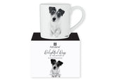 Beautiful Delight dog range by Ashdene in monochrome colours. 12 delightful dogs available. Jack Russell