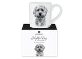 Beautiful Delight dog range by Ashdene in monochrome colours. 12 delightful dogs available. Cavoodle