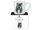 Beautiful Delight dog range by Ashdene in monochrome colours. 12 delightful dogs available. Staffordshire Bull Terrier