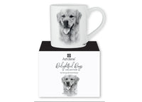 Beautiful Delight dog range by Ashdene in monochrome colours. 12 delightful dogs available. Golden Retriever