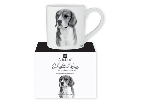 Beautiful Delight dog range by Ashdene in monochrome colours. 12 delightful dogs available. Beagle