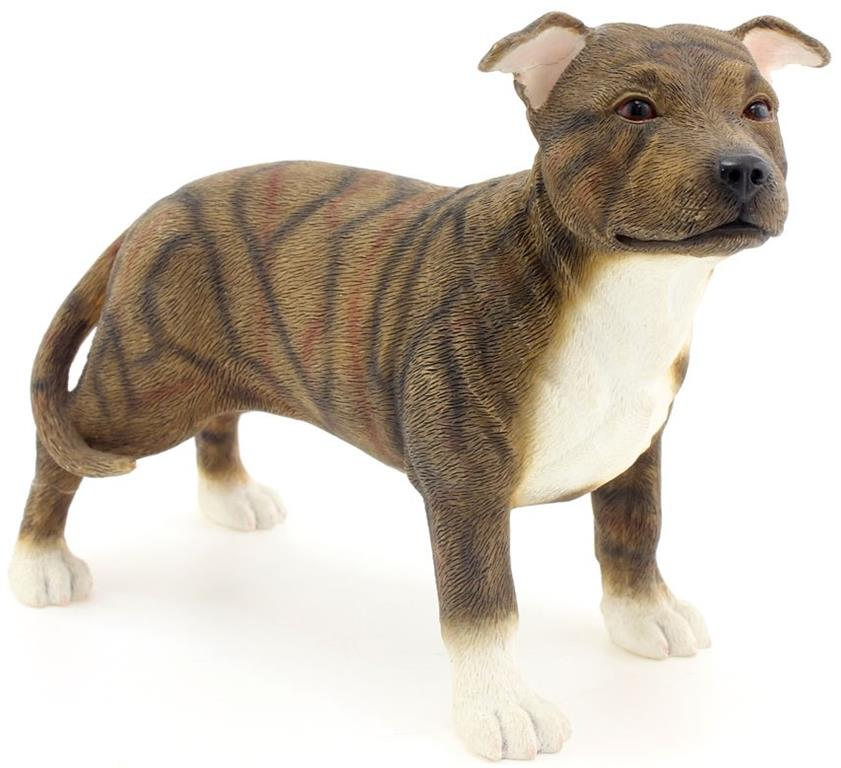 Leonardo Collection - Staffordshire Bull Terrier Dark Brown
