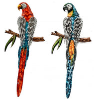 Beautiful - Metal Parrots Dimensions 4cm x 23cm x 53cm - Sold separately