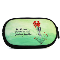 We all come prepared to add something beautiful, Sunglass case. Made from neoprene