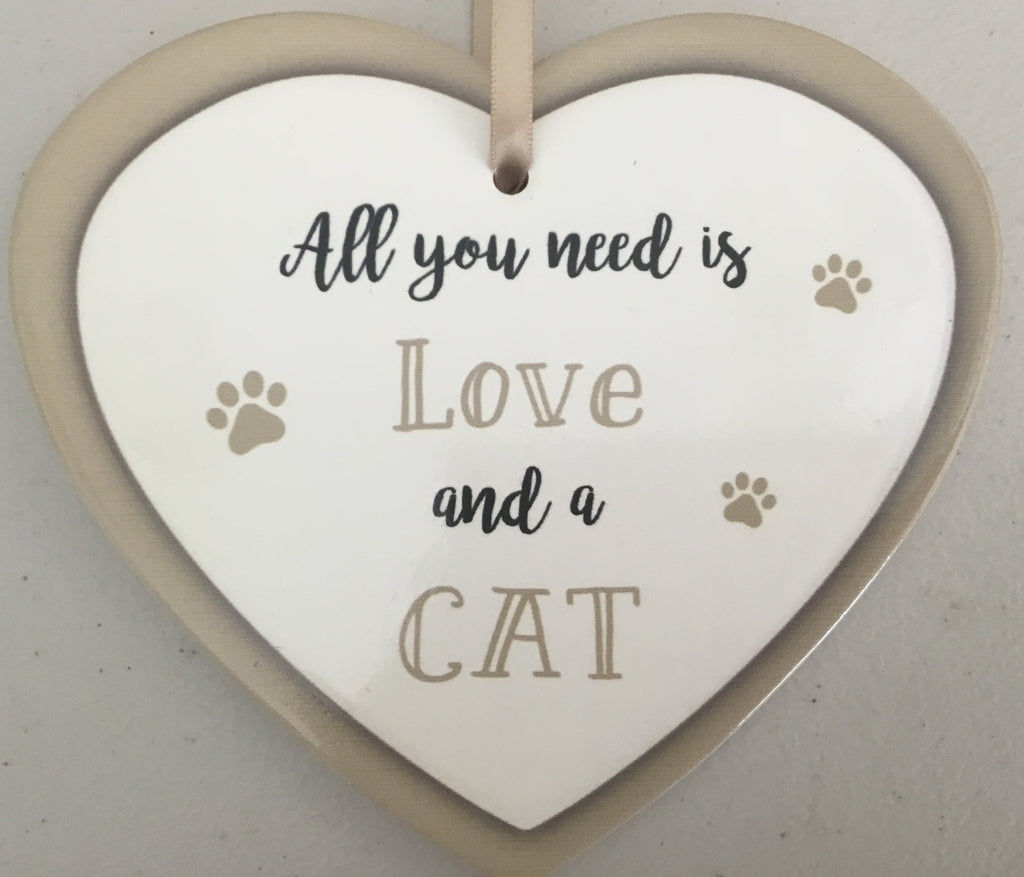 5017366e718f Ceramic Heart Plaques Cat or Dog – Charlie & Chums