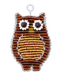 Beaded Keyring - Brown owl
