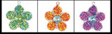 Beaded Keyring - 5 petal flower