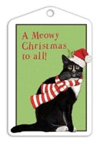 Black Cat MLT302 Christmas tags pack of 6