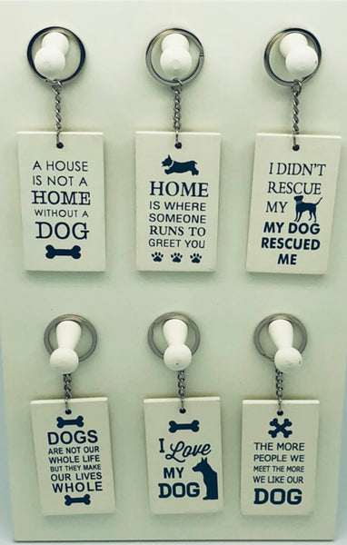 Assorted dog key rings 6 varients