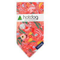 Hot Dog Bandana - Down Under - Coral