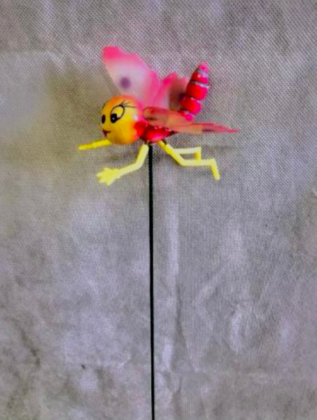 Beautifully colourful butterfly garden stake. 70 x 100 x 600 mm