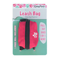Zippy Paws - Leash Bag Dispenser - fantastic for carry pick up bags when walking your dog.  Hibiscus Pink