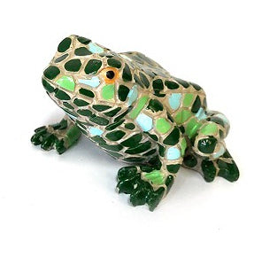 Beautiful mosaic Green frog available  in 2 colours. Greens or Bright colours  Size Dimensions:  7cm x 6cm x 5cm