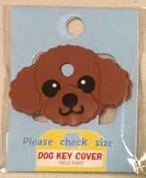 Poodle key cover - Red Brown