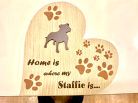 Heart Plaque - Home is where my DOG is