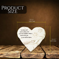 Heart Memorial Stone - Product Size 24cm in width and 24 cm in height