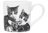 Feline Friends Mugs 330ml - Cuddling Kittens