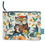 Owl - Beautiful designed with fun artistry, these cotton pouches are fantastic addition. They can be used for a cosmetic pouch, cables & charger pouch, pen and pencil case or just for notes and coins. 20cm x 15cm.