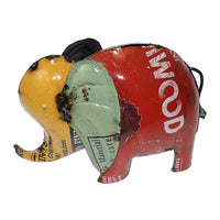 Bank on me Elephant - Money box - made by Think Outside from  recycled metal drums.
