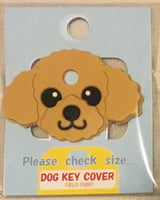 Poodle key cover - Blonde