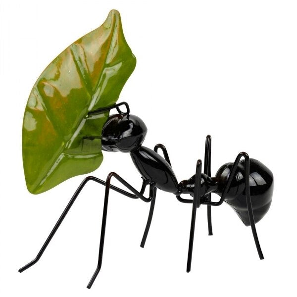 Black Ant with leaf.
