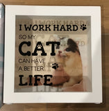 Money Box - I work hard so my Cat / Dog can have a better life