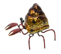 Metal Hermet Crab - hangable 13 x 16 x 14cm