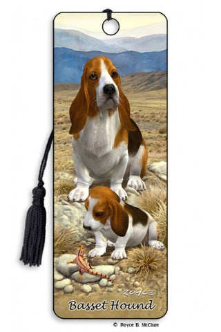 Basset 3D Book Mark