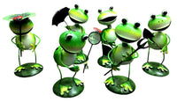 Beautiful and fun metal Garden frogs 15cm x 6cm each