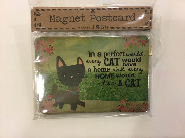 Magnet Postcard - Cat