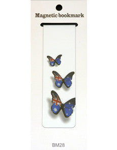 Magnetic Bookmark - 3 butterflies - in Australia Flag colours