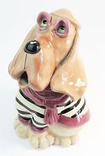 Blood hound teapot ceramic