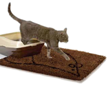 Cat Litter Mat in Brown, showing cat exiting its litter tray